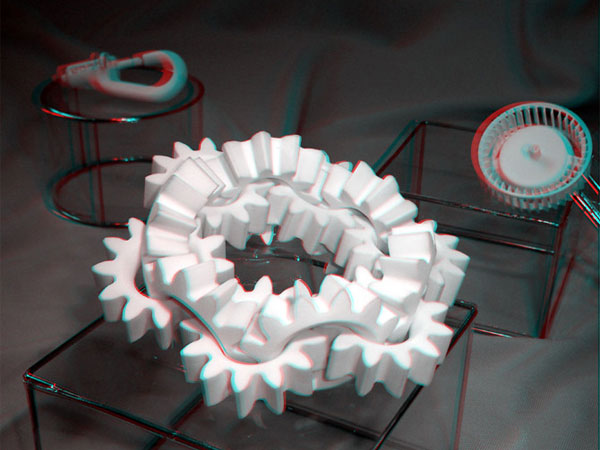SLS nylon Gears, built as one-piece with 3D printing