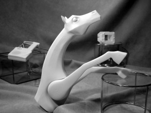 Rapid prototyping model of sculpted horse