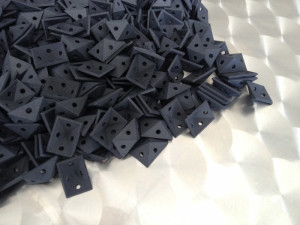 Black Short Run Production 3D printed Pieces