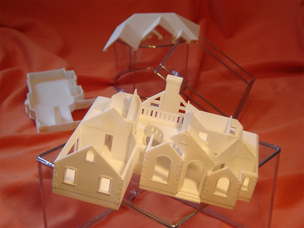 Scaled down residential home prototype model
