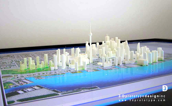 Scaled down prototyping model of Toronto Skyline
