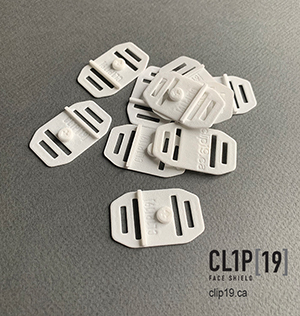 Clips for Clip19 face shields
